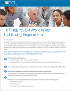 10 Things You Did Wrong in Your Last (Losing) Proposal Effort