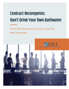 Contract Recompetes — Don't Drink Your Own Bathwater